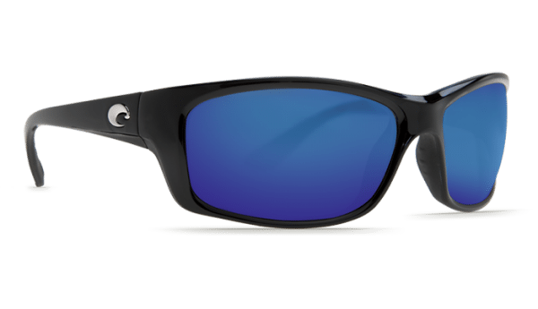Costa Jose Sunglasses Shiny Black Blue Mirror